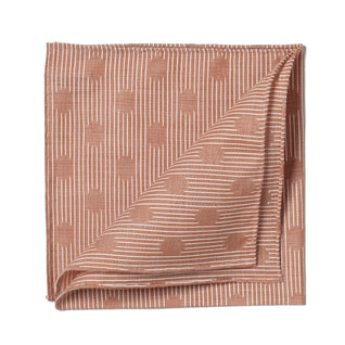 Light brown patterned cotton pocket square