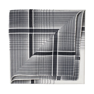 Black and white patterned cotton pocket square