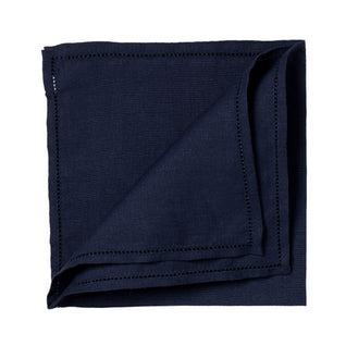 Dark blue linen pocket square