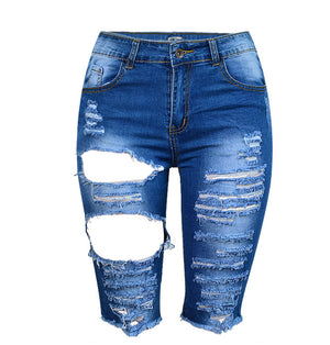 Open image in slideshow, SupSindy large size women's Short jeans Europe Style