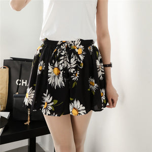 Open image in slideshow, Fashion Shorts Summer 2020 Women Chiffon Skirt  Wide Trousers  Large Size Casual Loose Printing Short Pants