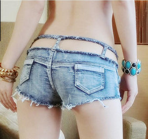 2017 NEW Summer women's Tides Denim Shorts Sexy club low waist shorts hot pants Jeans short Pants