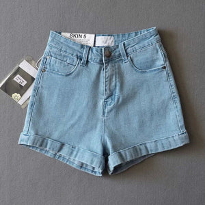 Open image in slideshow, Sexy High Waist Women shorts Blue Black denim shorts