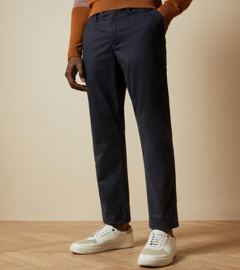 TED BAKER SINCERE Navy Slim Chinos
