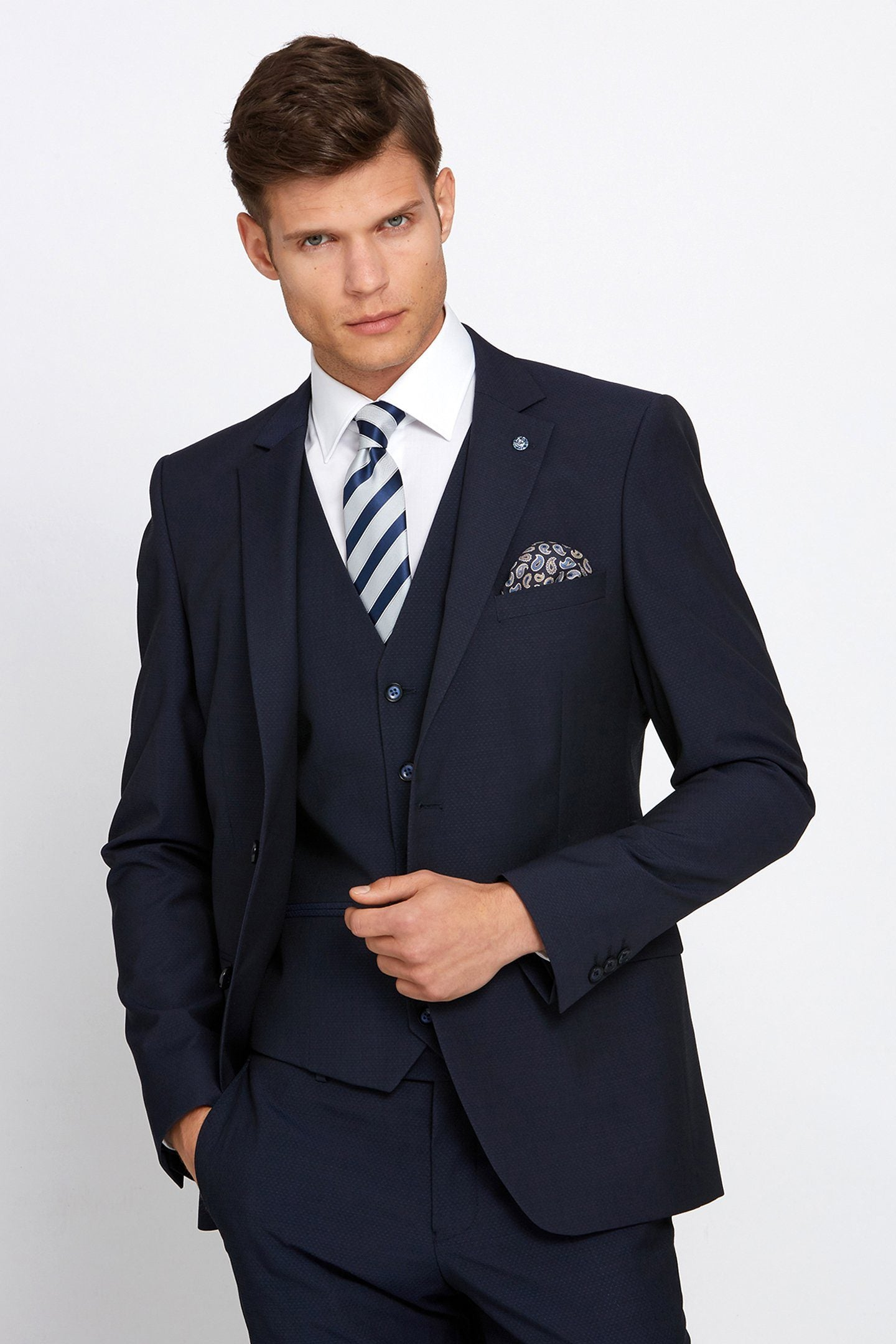 Cusack 3-Piece Suit Navy