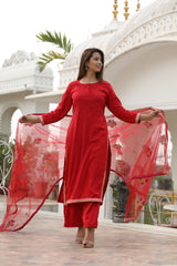 Parigul Red Suit Set