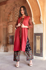 Pachrangi Rust Suit Set