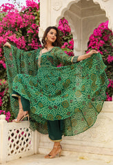 Sama Green Anarkali Set
