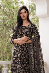 Black Barkha suit Set