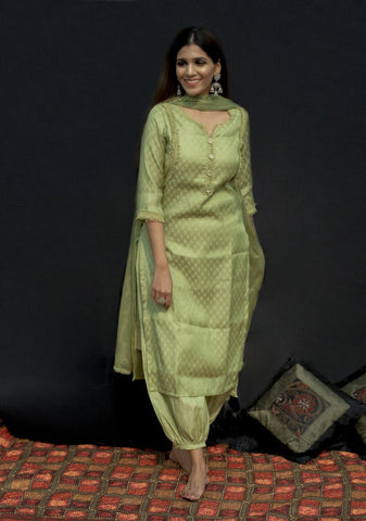 Green kurta salwar set