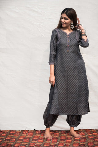 Blue kurta salwar set