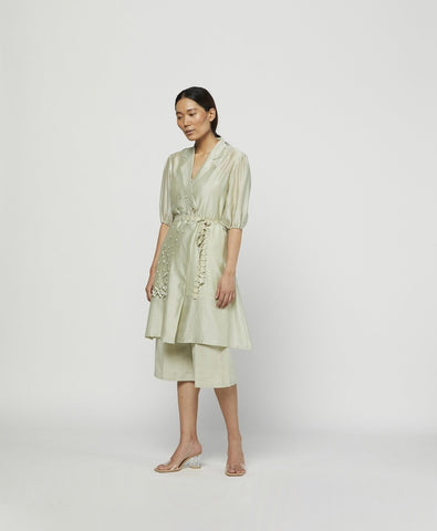 MOSS EMBROIDERED TUNIC SET