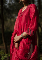 Ziyā KURTA SET - Chanderi Anarkali, House Of Pink, Kurta Set, Indianwear, Cotton Suits