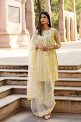 Elizia Yellow Suit Set