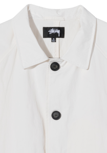 Stussy Boxy Mac Coat White