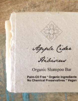 Apple Cider Hibiscus Organic Shampoo Bar