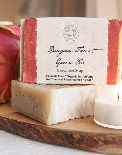Dragon Fruit Green Tea Organic Soap