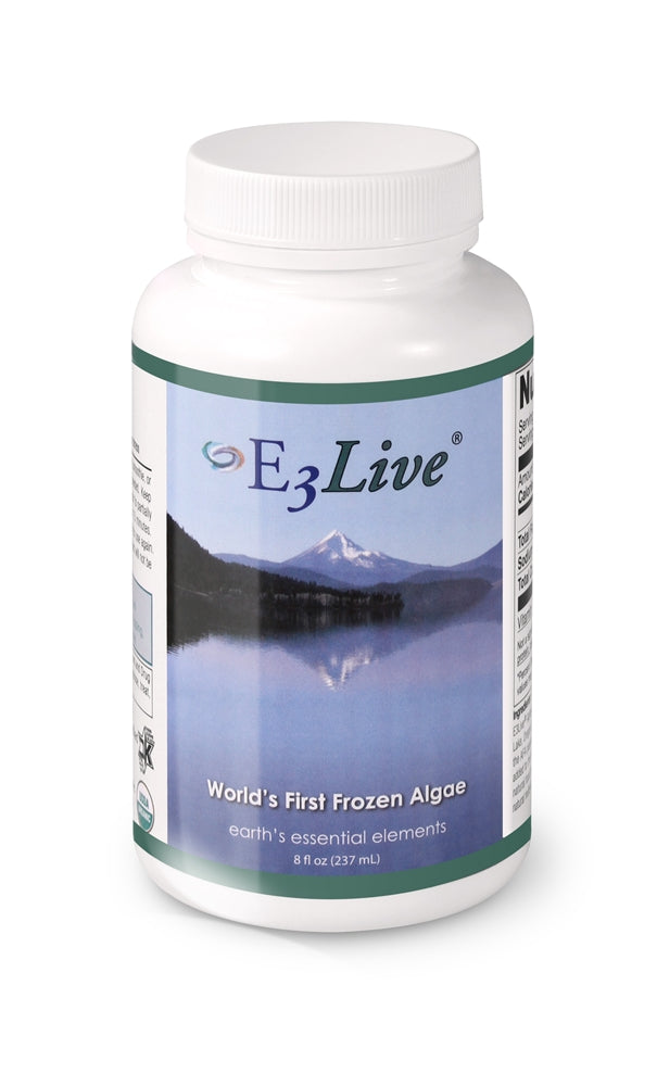 E3Live Original - All-organic wild-harvested aqua-botanical blue-green algae. (6) 8oz Bottles, 96 Servings