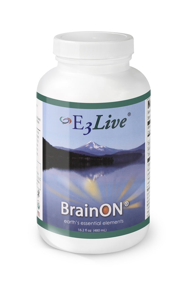 E3Live + BrainON - All-organic wild-harvested aqua-botanical blue-green algae. Gain focus and clarity, while brightening mood! (6) 16oz Bottles, 192 Servings