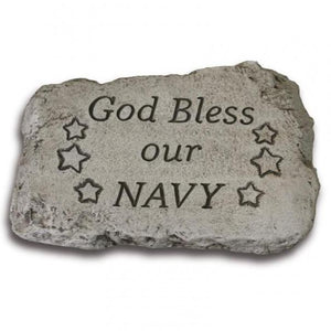 "10"" Garden Stone - God Bless Our Navy"