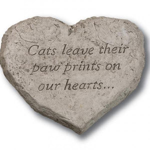 Heart Stone - Cats leave their paw prints