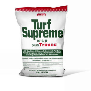 Best Turf Supreme Fertilizer 16-6-8 plus Trimec