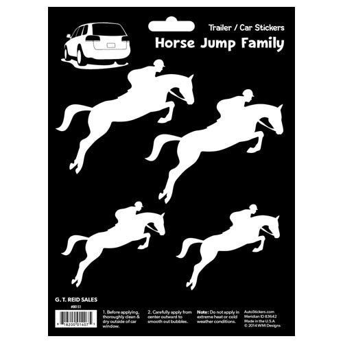 G.T. Reid Jumping Horses Sticker - The Tack Shop of Lexington