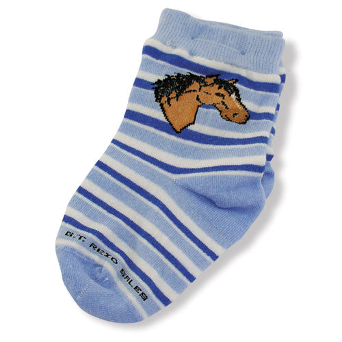 Infant Striped Horse Head Socks