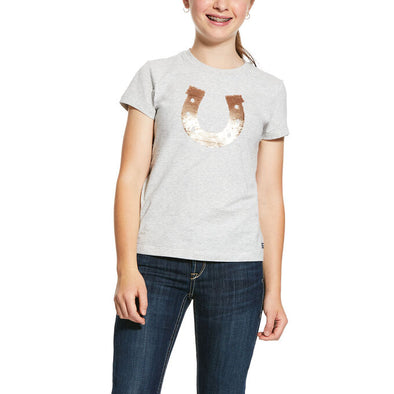 Ariat Girls Sequin Shoe T-Shirt