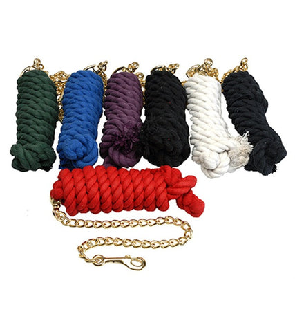 Jack's Cotton Lead Rope with Chain - The Tack Shop of Lexington