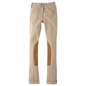 Tailored Sportsman Girls Trophy Hunter Front Zip Jodhpurs - The Tack Shop of Lexington
