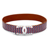 Style Stock Print Belt with Double Horseshoe Buckle