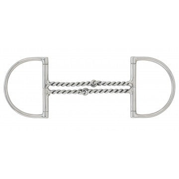 Centaur Stainless Steel Curved Double Twisted Wire Dee - The Tack Shop of Lexington