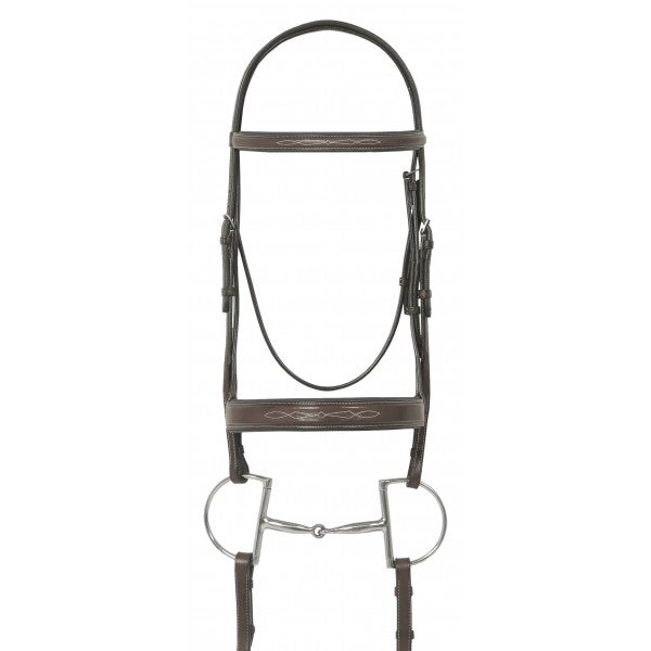 Ovation Elite Collection- Fancy Raised Wide Nose Padded Bridle