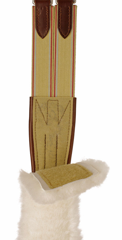 Edgewood Fancy Double Elastic Sheepskin Girth - The Tack Shop of Lexington - 2