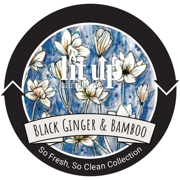 Black Ginger & Bamboo Scented Soy Candle