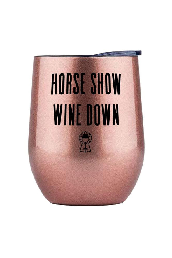SPICED Horse Show Wine Down Insulated Wine Glass