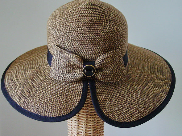 Equestrian Paper Braid Sun Hat with Snaffle Bit