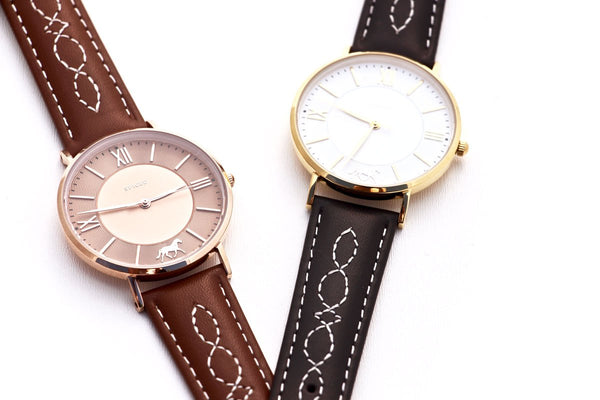Spiced Equestrian Fancy Stitch Wrist Watch
