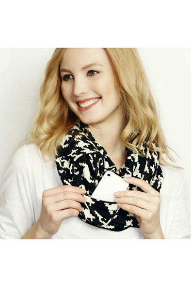 Under Wraps Infinity Scarf with Hidden Pocket - The Tack Shop of Lexington