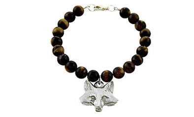 Fox Head Tiger Eye Bracelet