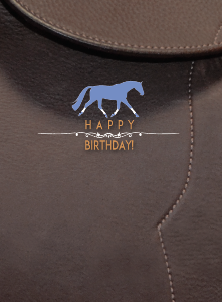 Leather Saddle Birthday Greeting Card