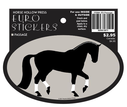 Horse Hollow Euro Oval Sticker: Passage