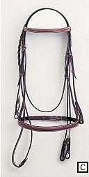 North Run Raised Bridle with Laced Reins