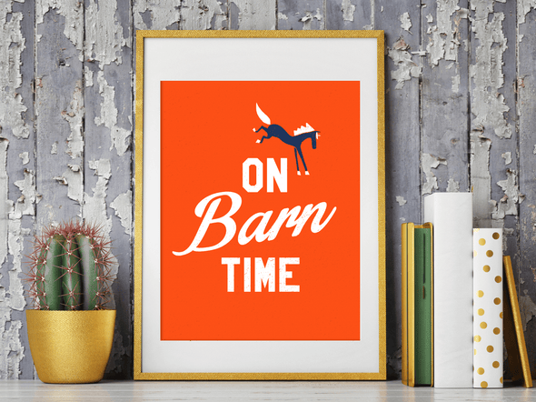 Mare Modern Goods Barn Time Print