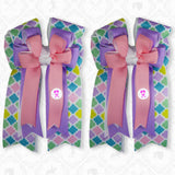"Pony Tail Bows 3"" Tails"