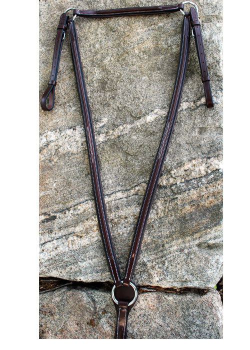 Red Barn Raised Fancy Stitched Padded Breastplate - The Tack Shop of Lexington