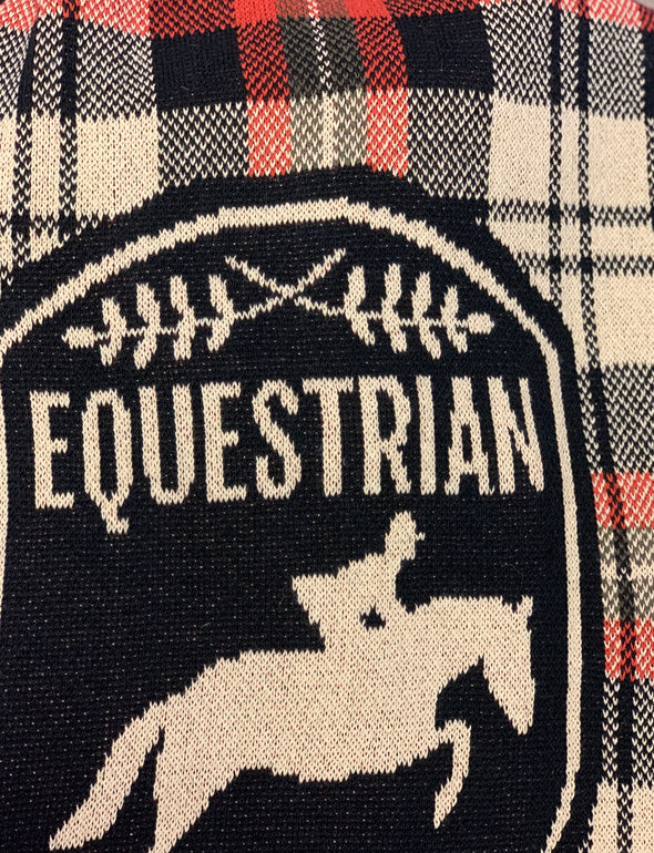 In2Green Equestrian Plaid Throw