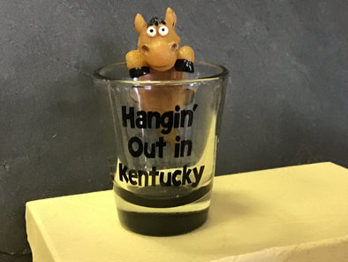 Hanging Out in Kentucky Shot Glass