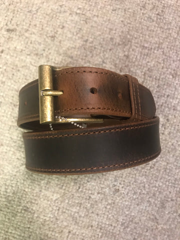 Green Hill Collection Stitched Distressed Leather Belt